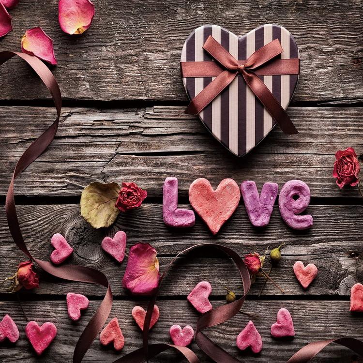 Quadro em vidro Love - Be Romantic