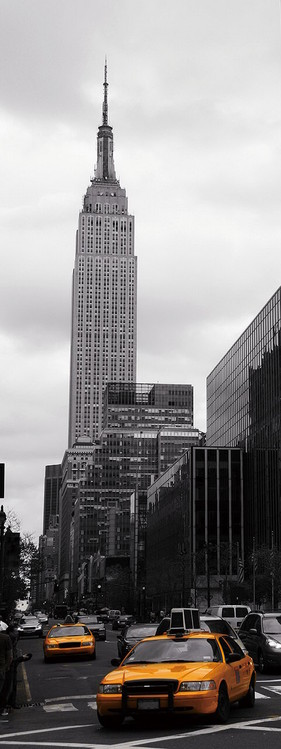 Quadro em vidro New York - Yellow Taxi