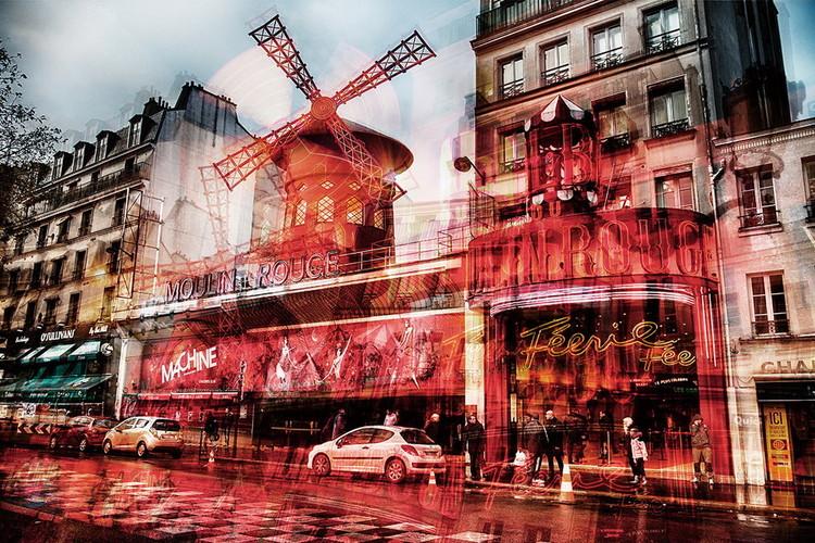 Quadro em vidro Paris - Moulin Rouge