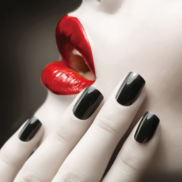 Quadro em vidro Passionate Woman - Lips