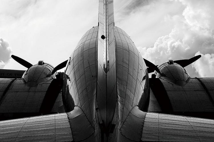 Quadro em vidro Plane - Backside