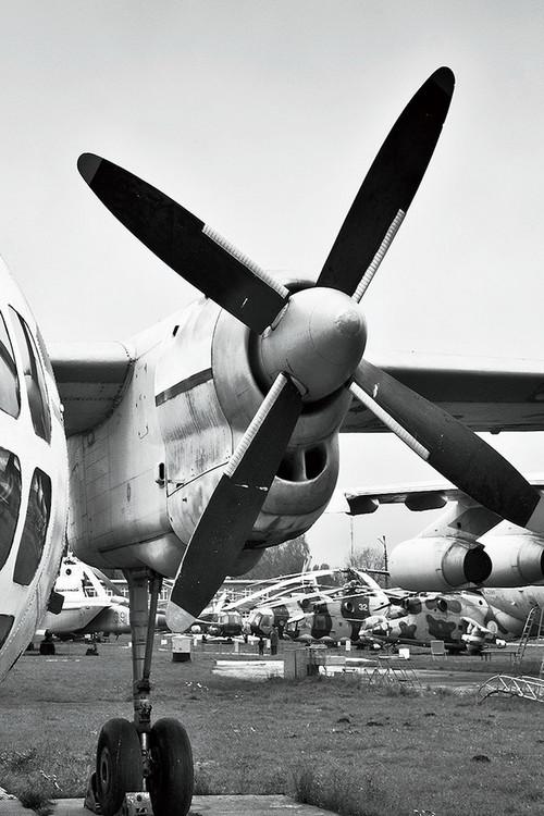 Quadro em vidro Plane - Cockpit