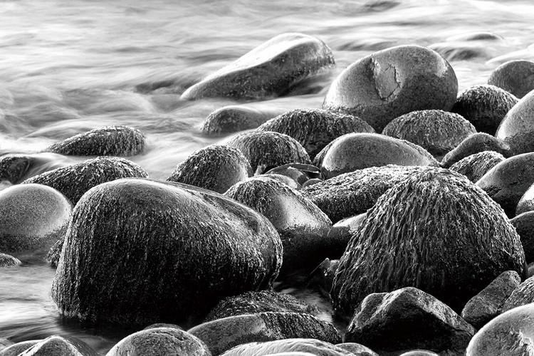 Quadro em vidro Sea - Grey Stones
