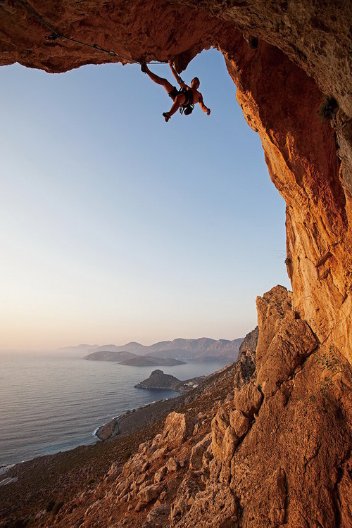 Quadro em vidro Strenght and Bravery - Rocks
