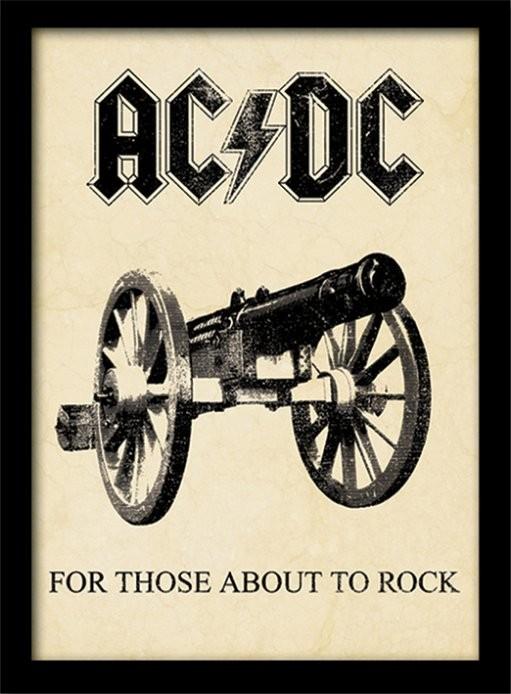AC/DC - for those about to rock Poster Emoldurado