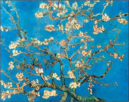 Reprodução do quadro  Almond Blossom - The Blossoming Almond Tree, 1890