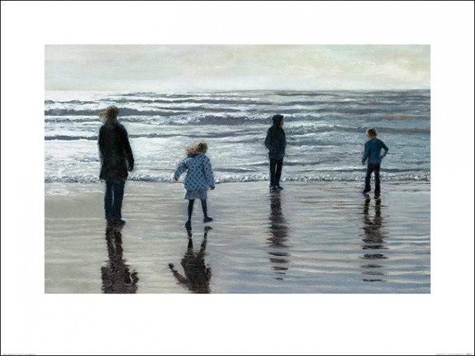 Reprodução do quadro Andrew McNeile Jones - Testing The Waves