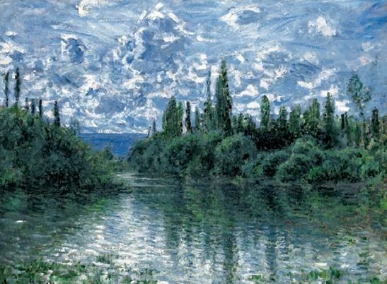 Reprodução do quadro Arm of the Seine near Vetheuil