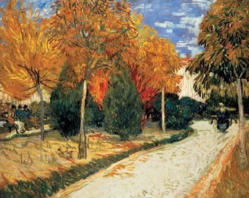 Reprodução do quadro Autumn Garden