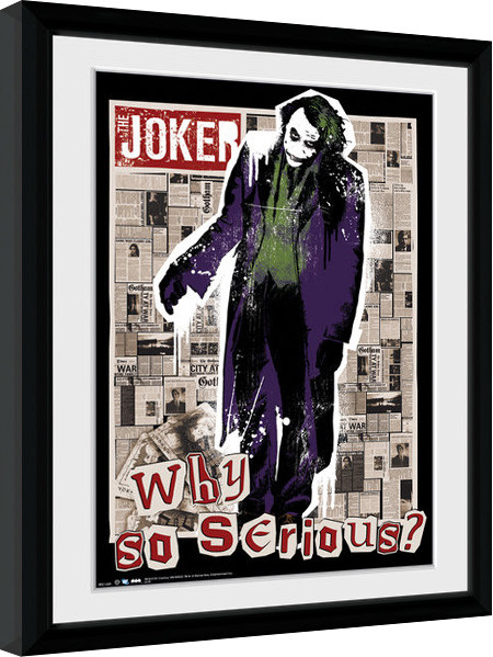 Batman The Dark Knight - Why So Serious Poster Emoldurado