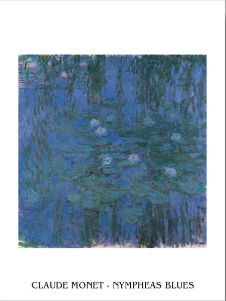 Reprodução do quadro  Blue Water Lilies
