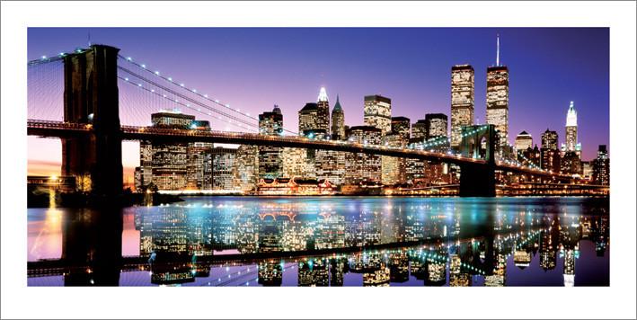 Reprodução do quadro  Brooklyn Bridge - Colour