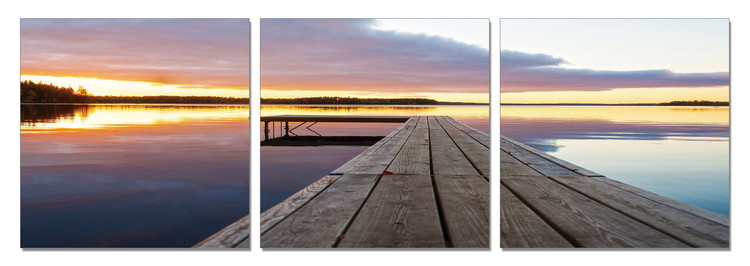 Quadro  Calm Water - Wooden Jetty