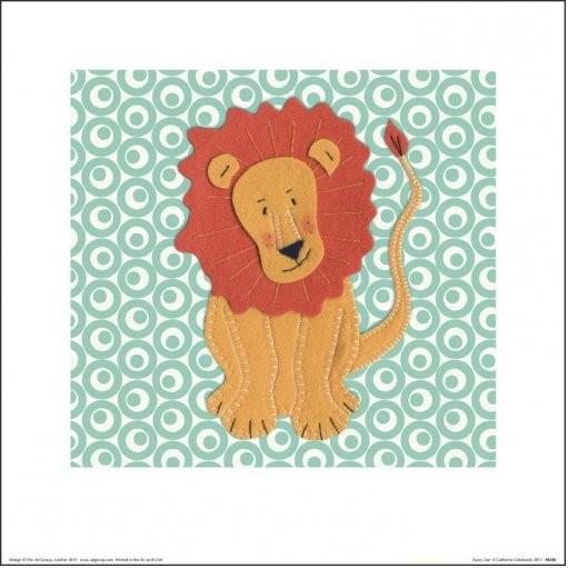 Reprodução do quadro Catherine Colebrook - Fuzzy Lion