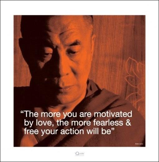 Reprodução do quadro Dalai Lama - Quote