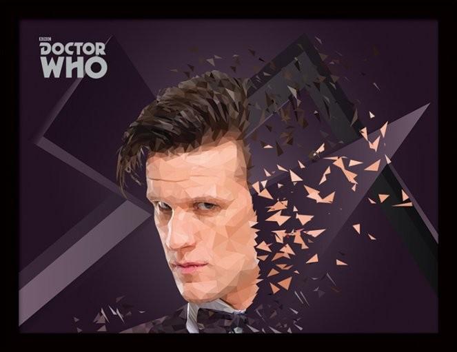 Doctor Who - 11th Doctor Geometric Poster Emoldurado