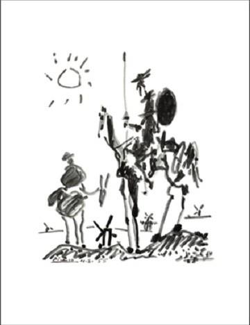 Reprodução do quadro Don Quichotte