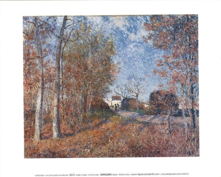 Reprodução do quadro Edge of the Forest in Sablons