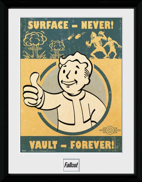 Fallout 4 - Vault Forever Poster Emoldurado