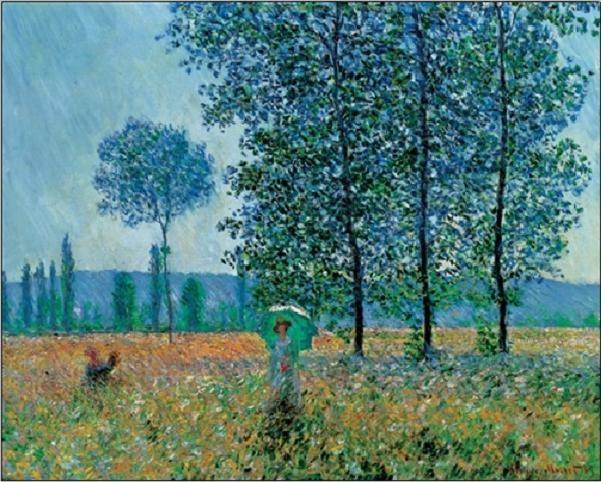 Reprodução do quadro  Fields In Spring
