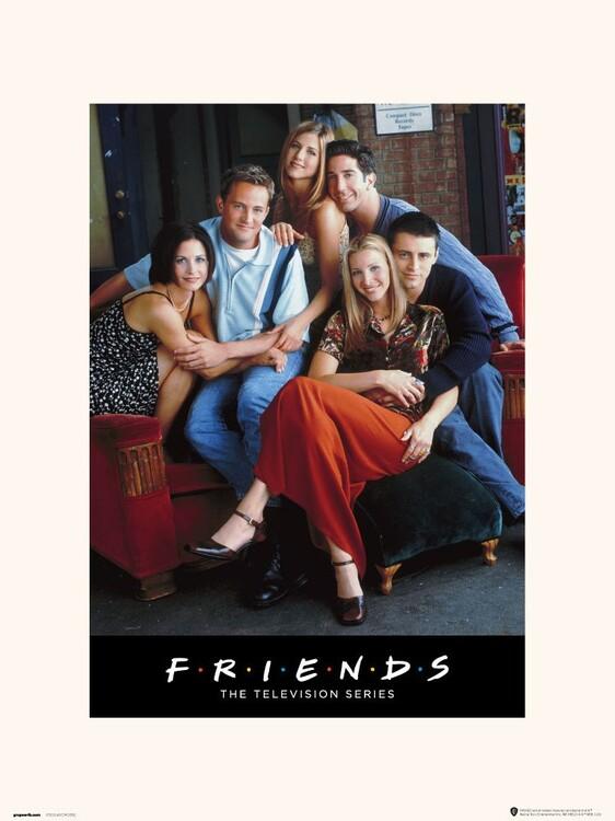 Reprodução do quadro Friends - Characters