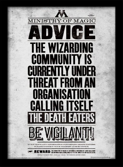 Harry Potter - Be Vigilant Poster Emoldurado