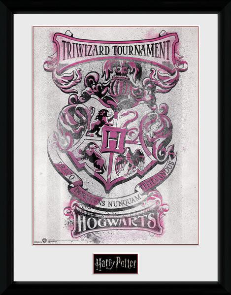Harry Potter Triwizard Hogwarts Poster Emoldurado