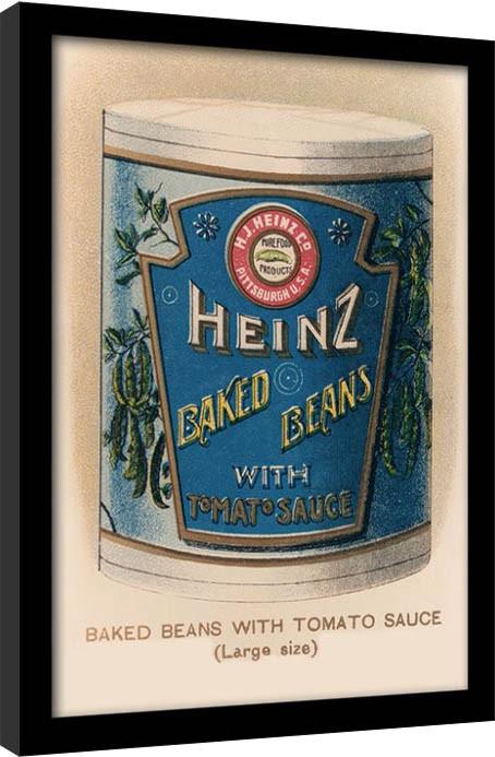 Heinz - Vintage Beans Can Poster Emoldurado