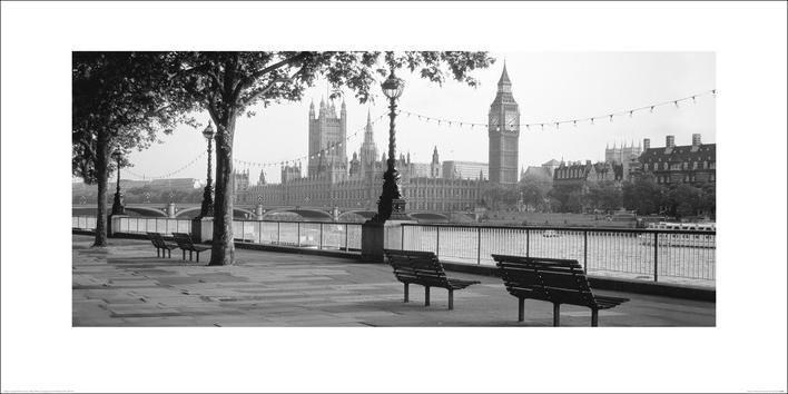Reprodução do quadro Houses of Parliament & The River Thames