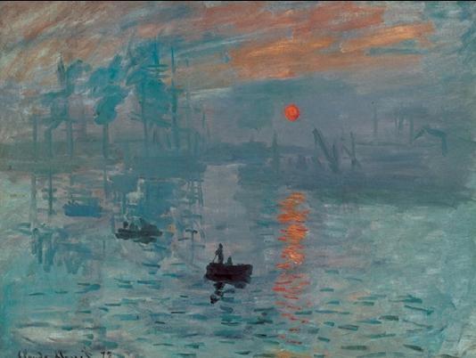 Reprodução do quadro Impression, Sunrise - Impression, soleil levant, 1872