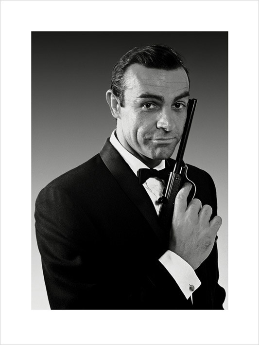 Reprodução do quadro James Bond 007 - Connery