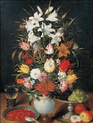 Reprodução do quadro Jan Brueghel the Younger - White Vase with Flowers