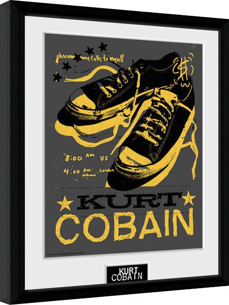 Kurt Cobain - Shoes Poster Emoldurado