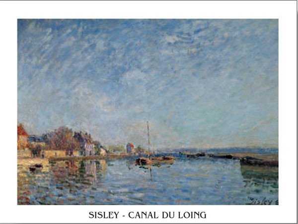 Reprodução do quadro Le canal du Loing - The Loing's Canal