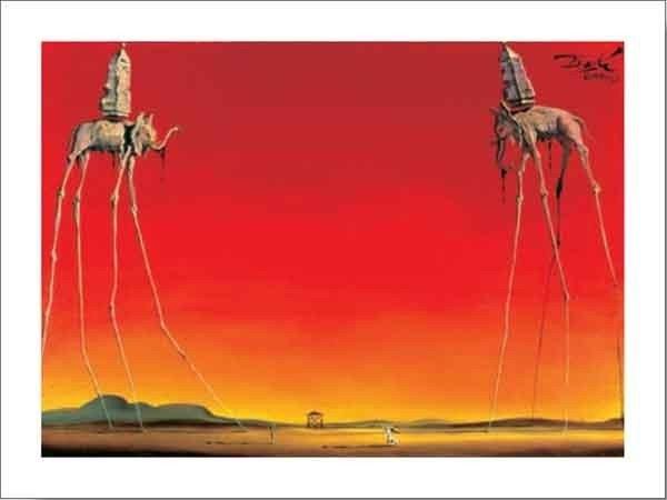 Reprodução do quadro Les Elephants