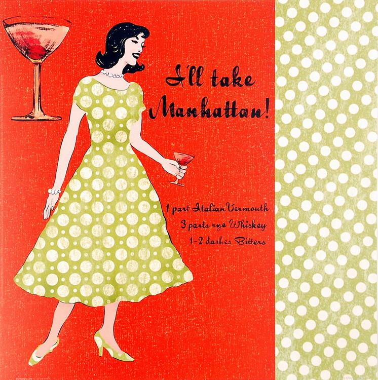 Reprodução do quadro Manhattan Lady