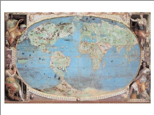 Reprodução do quadro Mapa-múndi histórico