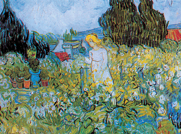 Reprodução do quadro Marguerite Gachet in the Garden, 1890