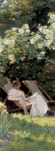 Reprodução do quadro Marie in the Garden (The Roses)