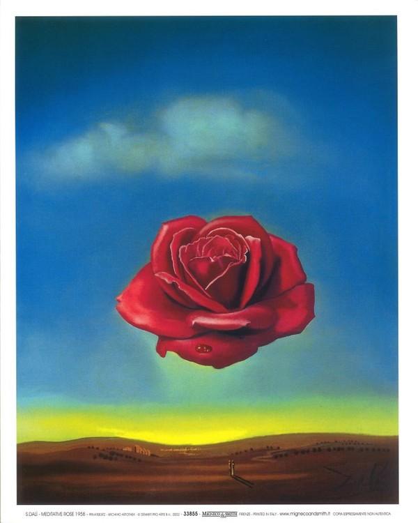 Reprodução do quadro Meditative Rose, 1958