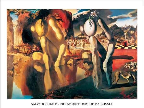 Reprodução do quadro Metamorphosis of Narcissus, 1937