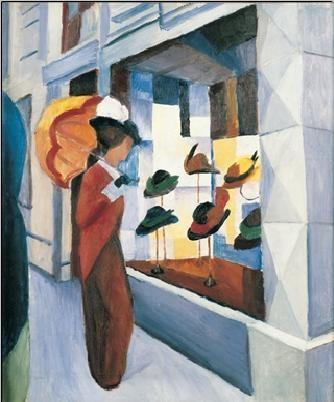 Reprodução do quadro Milliner's Shop (Hutladen), 1923