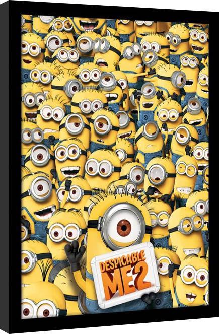 Minions (Despicable Me) - Many minions Poster Emoldurado