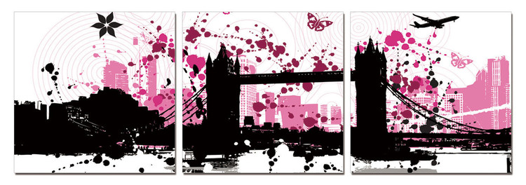 Quadro Modern Design - City Collage