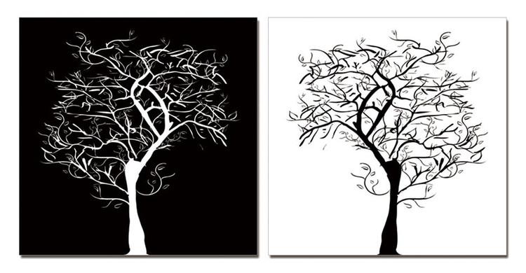 Quadro Modern Design - Tree Silhouettes
