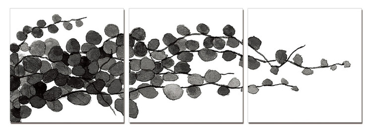 Quadro Modern Design - Young Branches (B&W)