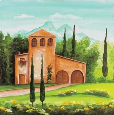Reprodução do quadro Monastery