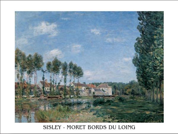 Reprodução do quadro Moret, Banks of the Loing