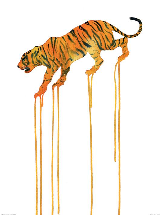 Reprodução do quadro Oliver Fores - Tiger