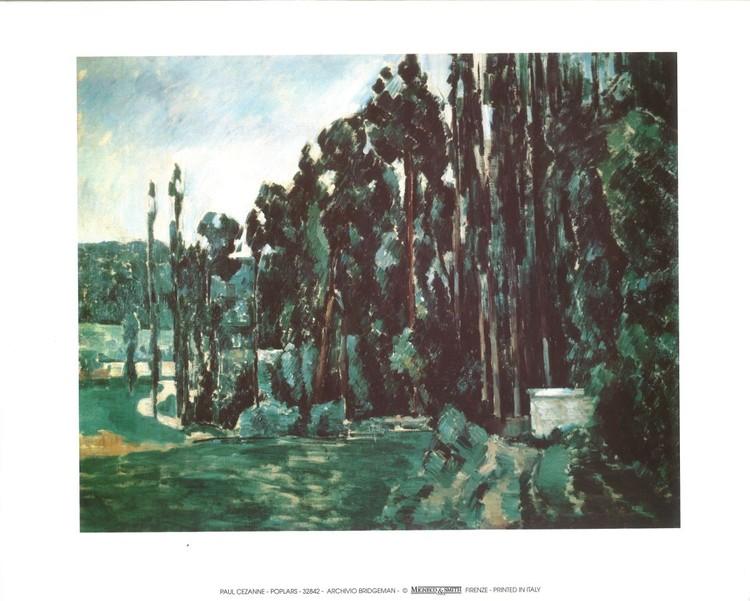 Reprodução do quadro  Poplars